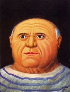Botero, Fernando (1932- ) - 1999 Portrait of Picasso (Private Collection of the Artist) by RasMarley, via Flickr