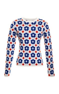 Jacquared Floral Pullover by J.W. Anderson Now Available on Moda Operandi