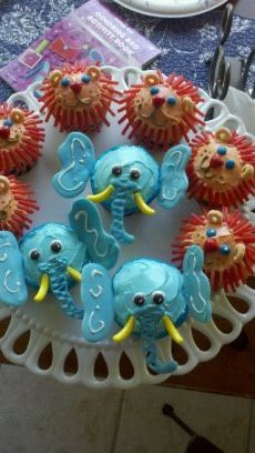 Jungle party cupcake