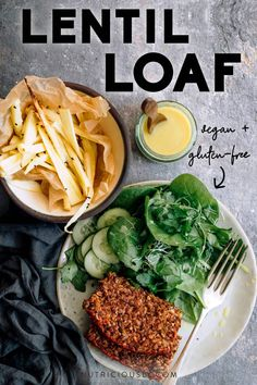This is the best easy vegan lentil loaf recipe! Fully vegetarian, this gluten-free meatless dinner is made with lentils, oats, walnuts and other simple whole food plant-based foods. Try this healthy vegan meatloaf for a high-protein side on Thanksgiving, Christmas or all throughout the year as a side or main. It has great texture and flavor. Family favorite & meal prep-friendly!