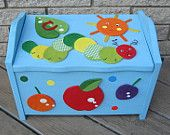 Brooke Owl Toy Box Chest Footstool & Seat - Personalized - Shabby Chic - Pottery Barn Kids Inspired. $129.99, via Etsy.