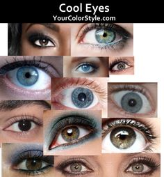 Colour Analysis – Cool Undertones – Cool Eyes – If you have cool undertones, your eyes will likely have an absence of wa… – color of life Blue Green Eyes, Gray Eyes, Blue Grey, Brown Eyes, Color Me Beautiful, Beautiful Eyes, Light Olive Skin, Soft Summer Palette, Summer Color Palettes