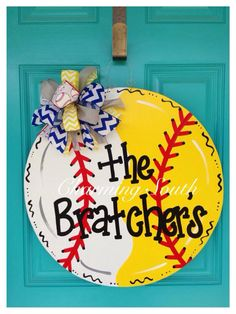 Baseball & Softball Door Hanger  https://www.facebook.com/thecharmingsouth