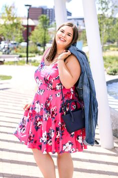 Pink Floral Sundress That You Can Transition Into Fall