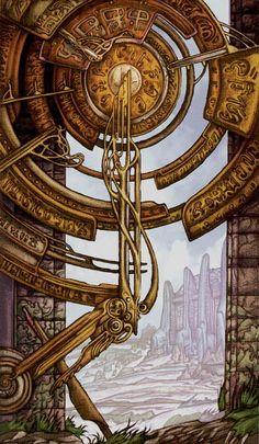 X - La roue de la fortune - Universal Fantasy Tarot par Paolo Martinello