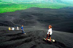 Sanding Boarding down Cerro Negro, Nicaragua