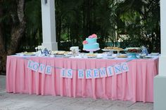 Tea Party Bridal Shower  Love is Brewing Table