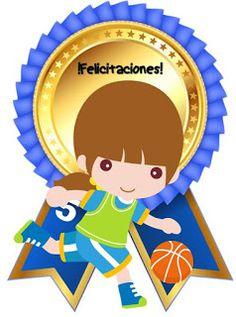 Fichas de Primaria: Medallas escolares Stickers Online, Luigi, Smurfs, Princess Peach, Joy, Education, School, Fictional Characters, Tips