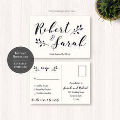 diy wedding rsvp rsvp template wedding printable by MarryMakings