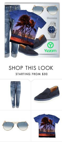 """Everyday Look"" by monmondefou ❤ liked on Polyvore featuring Dsquared2, Tod's, Ray-Ban, TAG Heuer, men's fashion, menswear and yizzam"