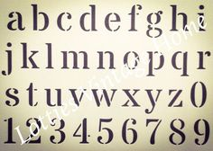 A4 Alphabet Stencil LOWERCASE Vintage Font ❤️ DIY French Furniture Makeovers