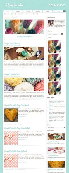 Handmade Theme for Female bloggers by Restored 316 Designs for StudioPress