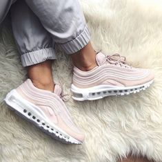 e837be05d55 The super stylish Nike Air Max 97 sneaker in barely rose (pink). Luxury  shoe and super comfortable.