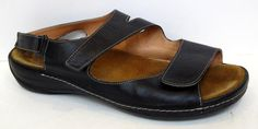 Wolky 'Liana' Black Leather Sandal Size 43/US 11.5-12 #Wolky #Strappy