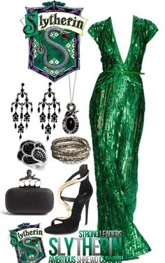"""Slytherin: Yule Ball"" by eclare887 on Polyvore"