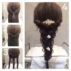 Wedding Hairstyles: A 7 Step Plan For Perfect Hair Messy Hairstyles, Pretty Hairstyles, Wedding Hairstyles, Pretty Braids, Hair Arrange, Hair Setting, Hair Dos, Prom Hair, Hair Hacks