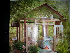 10 x 10 open structure with reclaimed doors and windows (Susanne Hudson)