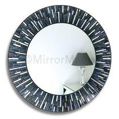 Sicily - Mosaic Wall Mirror, Blues