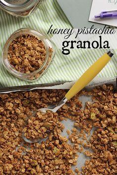 Honey Pistachio Granola by @Eat Your Heart Out