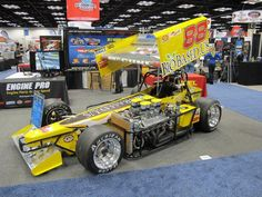 Photo from I-X Center Piston Power Show February 2013. Don Wilshe owned Jimmy McCune driven Belfab supermodified..Beautiful