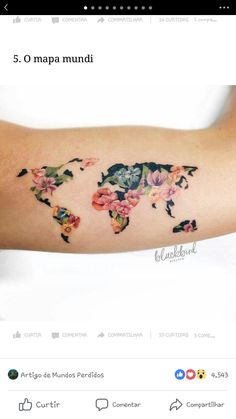 Tatuagem, Mapa Mundi, Viagem