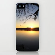 Yellow Sunset at the Lake iPhone & iPod Case by BACK to BASICS - $35.00