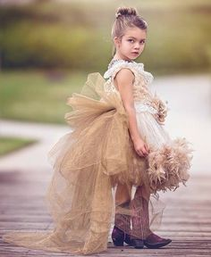 """Fairy tale Autumn""... A Dramatic Boutique Flower Girl Dress"