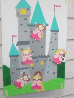 Pin the Princess on the Castle!    Can use knights for boys too