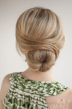 Wrapped Bun #updo #twist #blonde #wedding #party #bridal #bride #bridesmaid