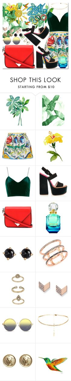 """Hey Rio  😗 😎"" by passion-girlz ❤ liked on Polyvore featuring Dolce&Gabbana, Topshop, Victoria Beckham, Alexander Wang, Irene Neuwirth, EF Collection, FOSSIL, Matthew Williamson, Chanel and Summer"