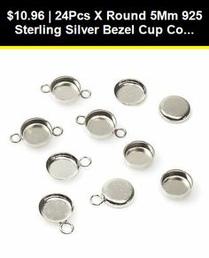 10pcs x Oval 10x8mm 925 Sterling silver Bezel Cup Setting base blanks