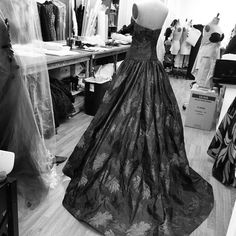 "csiriano: ""Happy Monday! Gown draping in the studio today. """