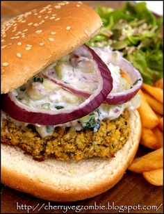 Vegan Falafel Burger | Cherry Flamingo