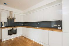 glass kitchen splashbacks | Tumblr d-c-fix® black gloss sticky back plastic could be used to get this look