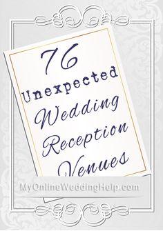 76 Unexpected Wedding Reception Venue Ideas
