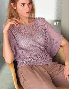 Filati Classici No. 9 By Filati Wolle-Ha - Diy Crafts Diy Crafts Knitting, Diy Crafts Crochet, Lace Knitting Patterns, Crochet Cardigan Pattern, Coco Chanel Mode, Crochet Top Outfit, Popular Crochet, Casual Sweaters, Knitted Hats