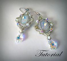 Beading tutorial earrings Bella Crystal earrings pattern earrings Jewelry…