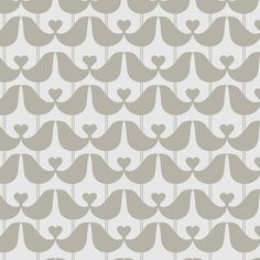 Lovebirds Wallpaper In Mustard Charcoal Or Stone Grey
