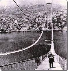 Boğaziçi Köprüsü inşaatı 1972