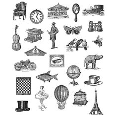 Stampers Anonymous Tim Holtz Cling Rubber Stamp Set Tiny Things