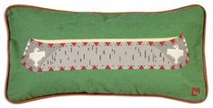 "Canoe on Green 12""X24"" Canvas Pillow - Chandler 4 Corners"