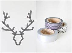 Make wintry wall designs with washi tape. | 21 Ways To Decorate A Small Space For The Holidays