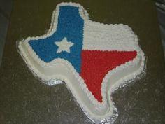 Texas shaped Groom's cake