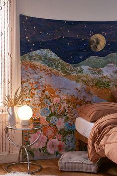 Room Ideas Bedroom, Dream Bedroom, Bedroom Decor, Bedroom Inspo, Bedroom Inspiration, Brand Inspiration, Dream Rooms, Kids Bedroom, Tapestry Bedroom