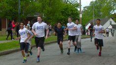 Boston Marathon bombing survivors visit Cleveland school