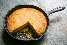 Southern Cornbread ~ A Southern-style savory cornbread, baked in a hot iron skillet. ~ SimplyRecipes.com