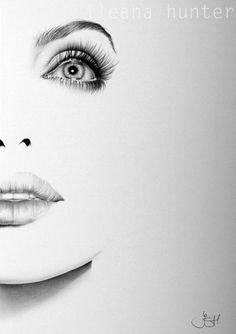 Angelina Jolie Fine Art Pencil Drawing Portrait by IleanaHunter