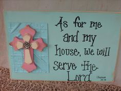 Rustic Shabby Chic Home Decor Scripture Sign by SassySouthernCharm, $22.00