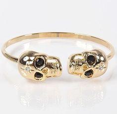Skull Bracelet  _______________________  #skullstyle #luxury #life #lifestyle #womensware #skull #skulls #style #badass #men #menfashion #mensware #gold #geek #instagood #luxurylifestyle #fashion #women #womensfashion #exotic #womensstyle #catrina #success #black #bracelet #tattoo #girlswithtattoos #classy #lady #jewelry