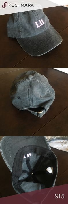 """""""Lit"""" baseball cap Lit baseball cap purchased from Pacsun. Worn once. Reasonable offers considered. 🚫NO TRADES🚫 PacSun Accessories Hats"""